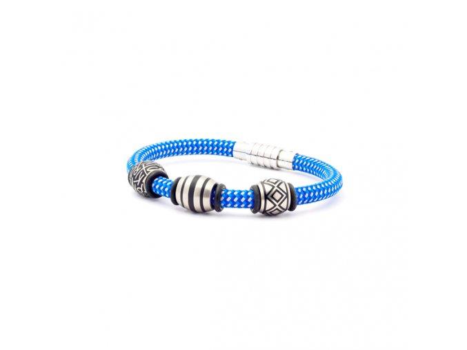 Modrý náramek s korálky BE YOUNG