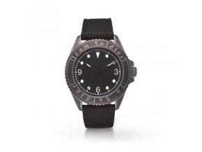 Unisex analogové hodinky s černým textilním řemínkem