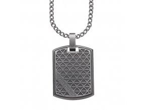 Ocelový náhrdelník s přívěskem Deštička TRUE VIKING