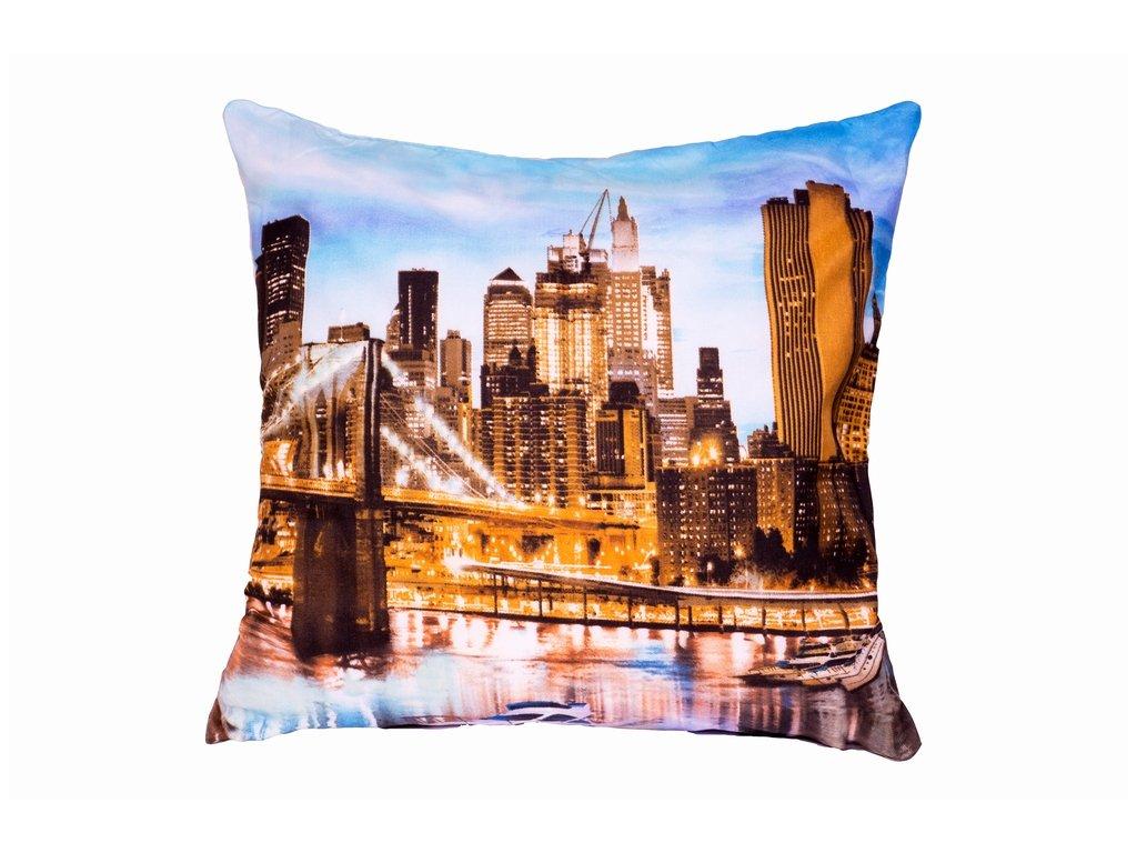 Polštář 3D NEW YORK 45x45 cm