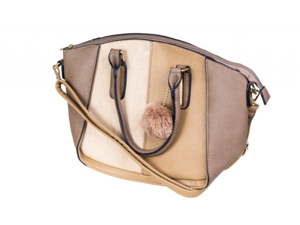 Luxusní kabelka JBFB 249 HNĚDÁ