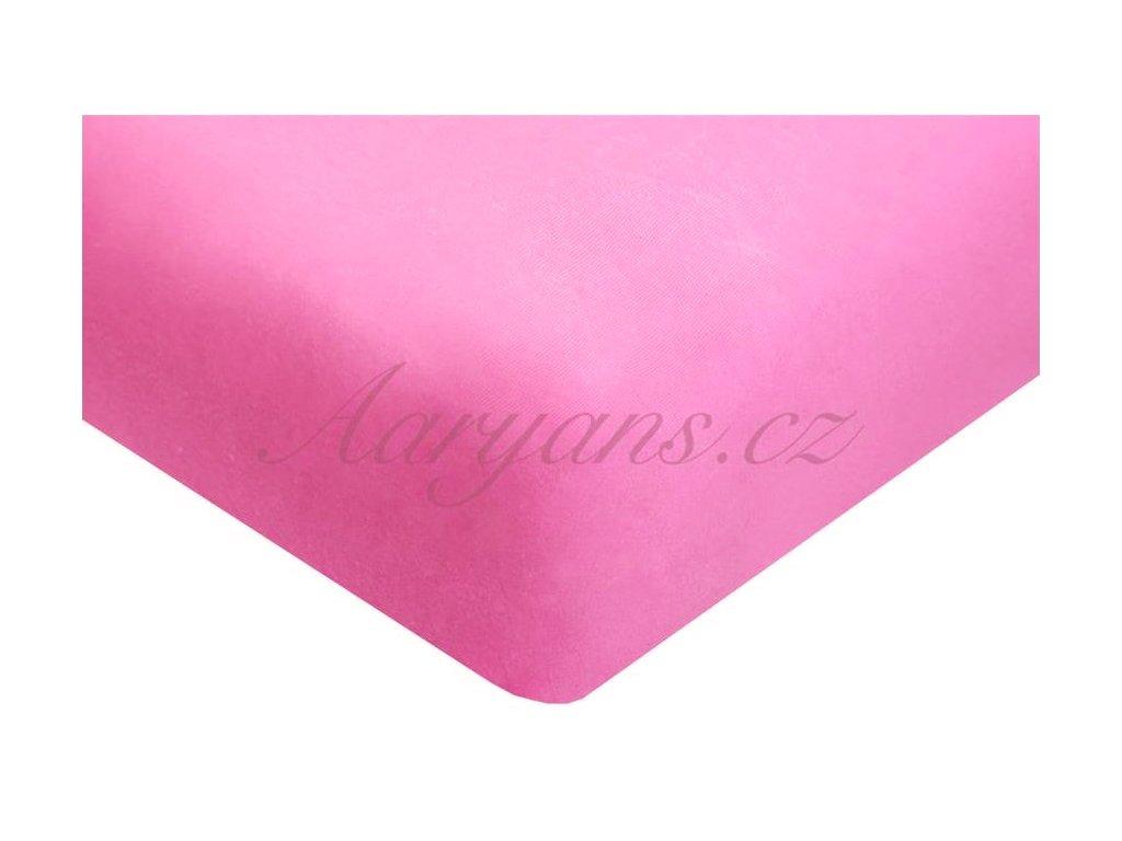 Dětské prostěradlo jersey 60x120 cm růžové
