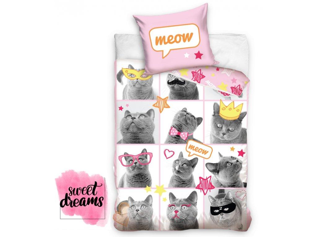 Bavlnene povleceni Kocky Modelky CAT163001