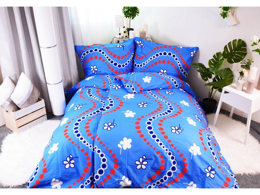 2004 2 aaryans bavlnene povleceni sofy blue 140x200 70x90cm