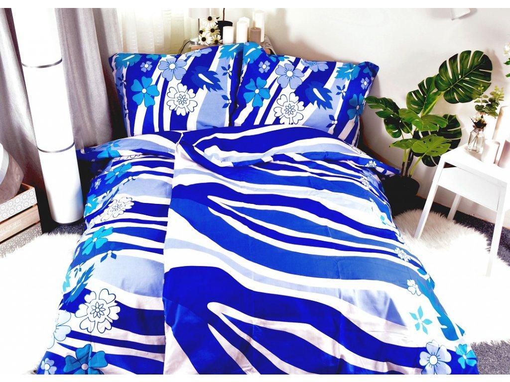 2034 2 aaryans bavlnene povleceni linda blue 140x200 70x90cm