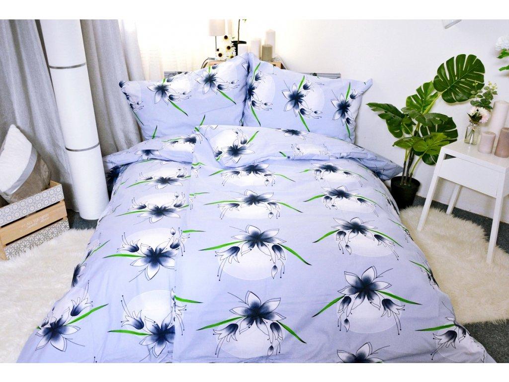 2040 aaryans bavlnene povleceni lily modra 140 x 200 70x90