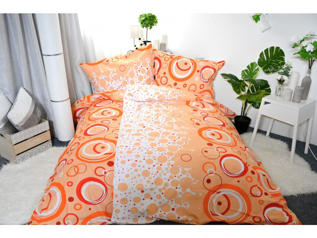 2193 bavlnene povleceni desire oranzove 140 x 200 70x90