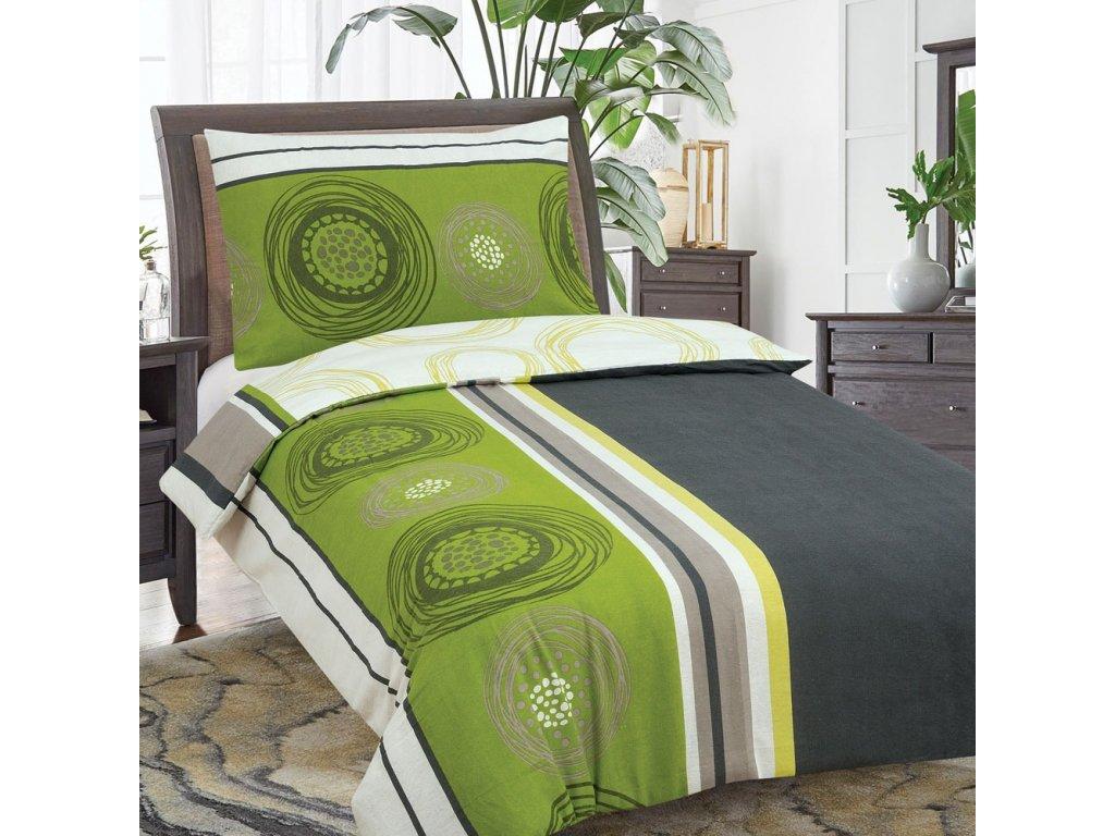 23129 aaryans bavlnene povleceni fanny zelene 220x200 90x70cm