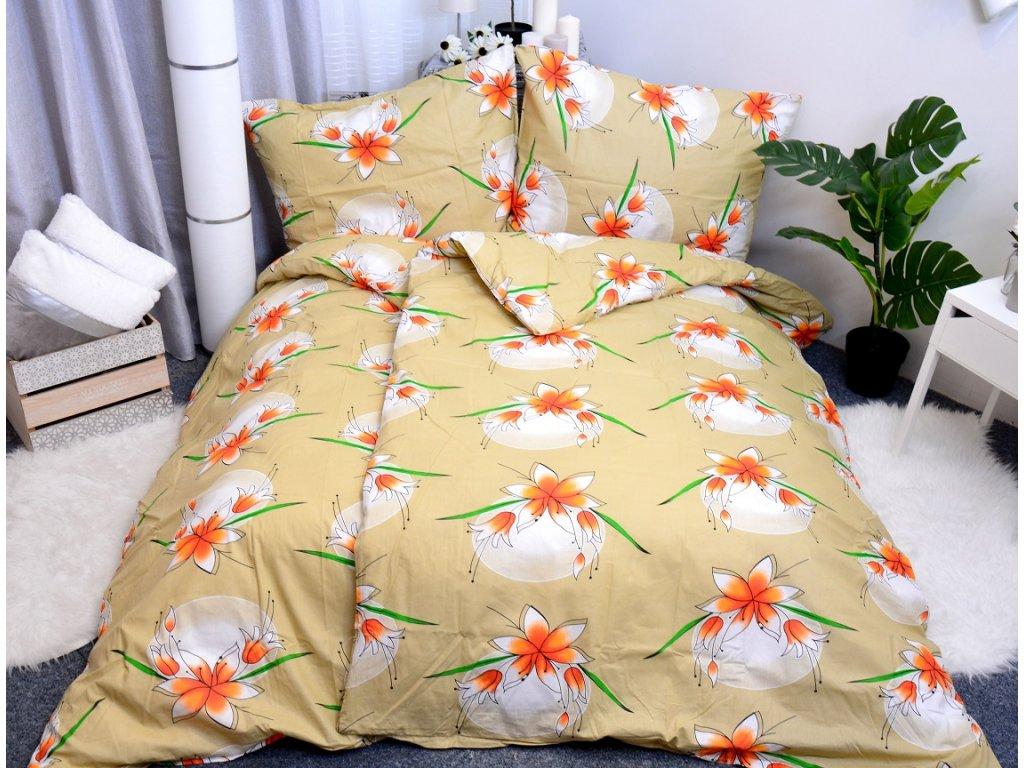23357 aaryans bavlnene povleceni lily horcicove 140 x 200 70x90