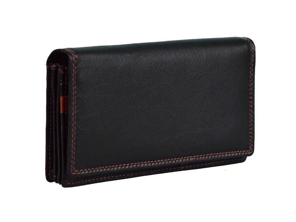 Dámská kožená peněženka s ochranou RFID  JBPL 03- černá/tan