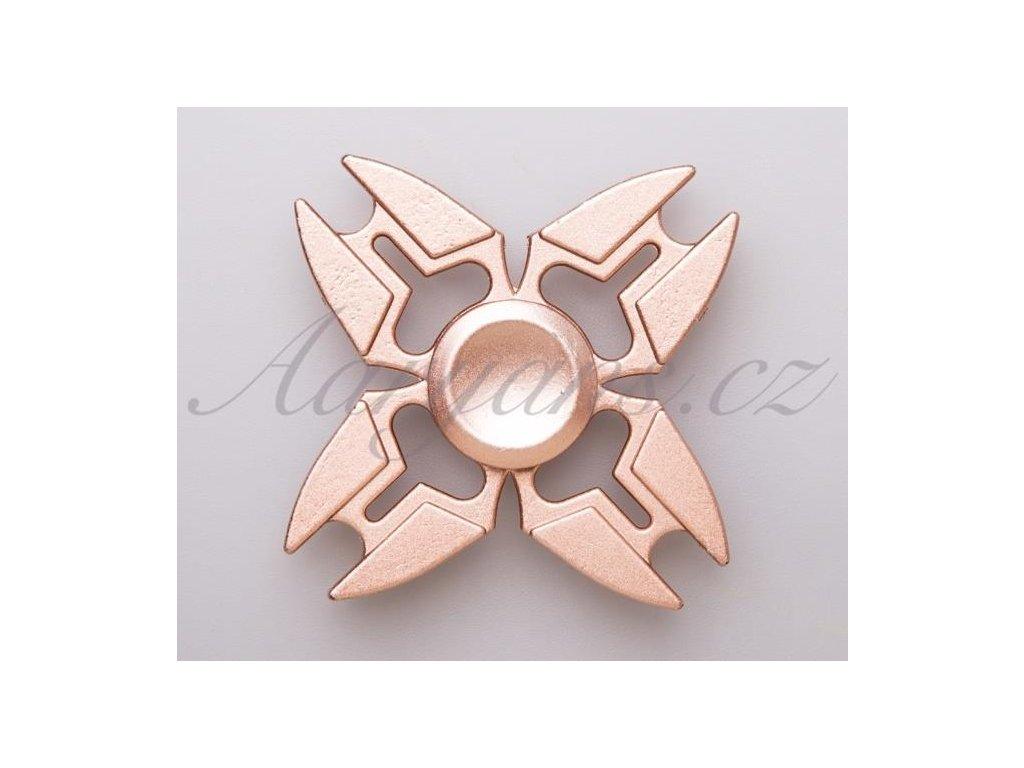 2634 fidget spinner kovovy rose gold