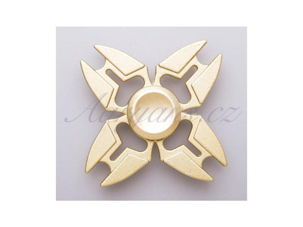 2637 fidget spinner kovovy gold