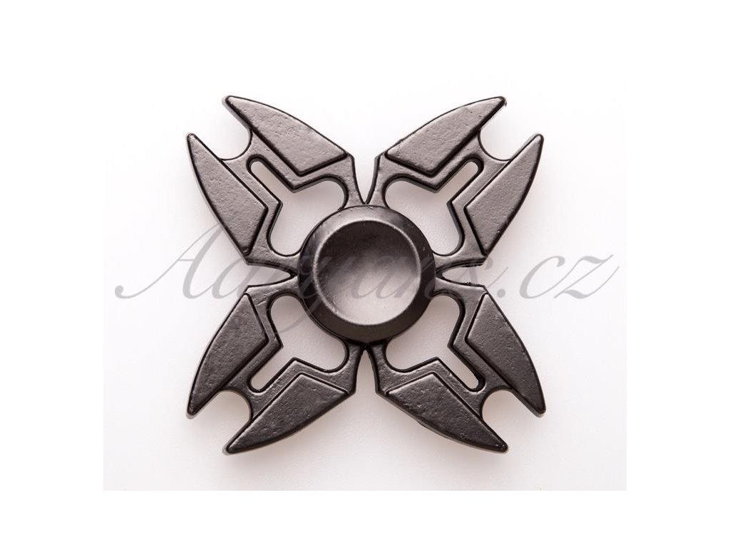 2643 fidget spinner kovovy cerny