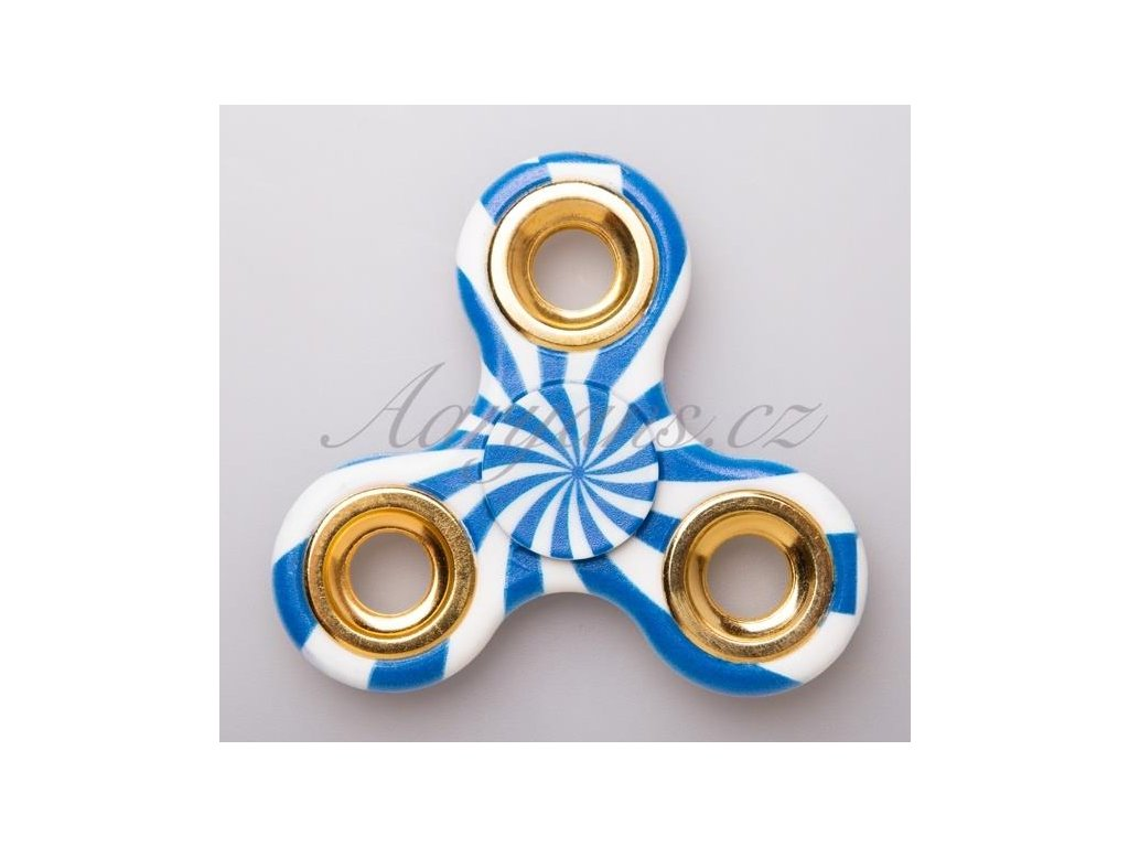 FIDGET SPINNER - modrobílý