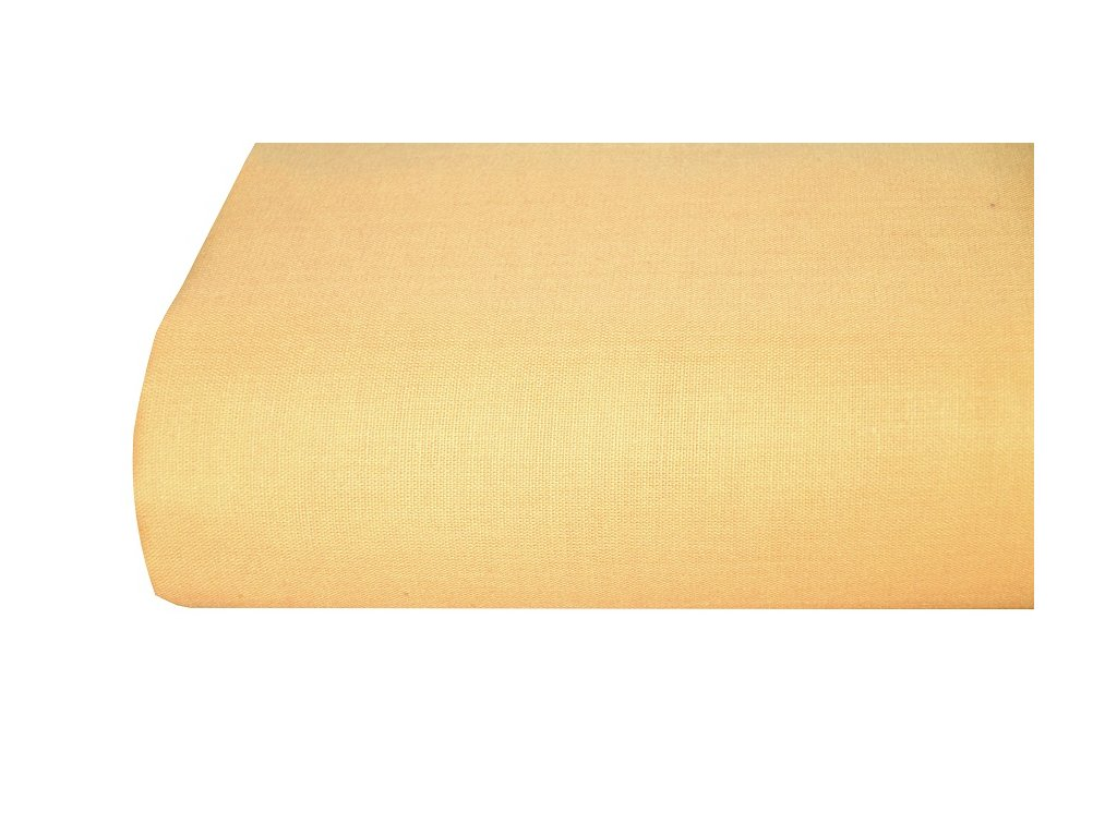 Aaryans Bavlněná plachta, prostěradlo 140x225 cm pastelové žluté