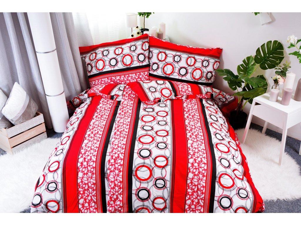 2010 aaryans bavlnene povleceni red circles 140 x 200 70x90