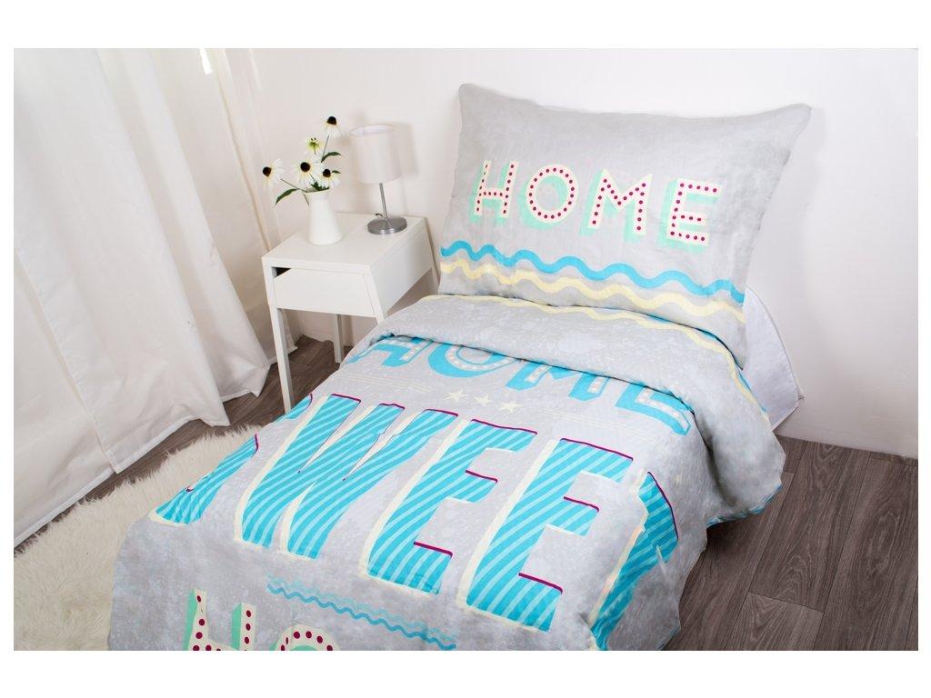 3483 1 halantex povleceni bavlna home sweet home 140x200 70x90 cm