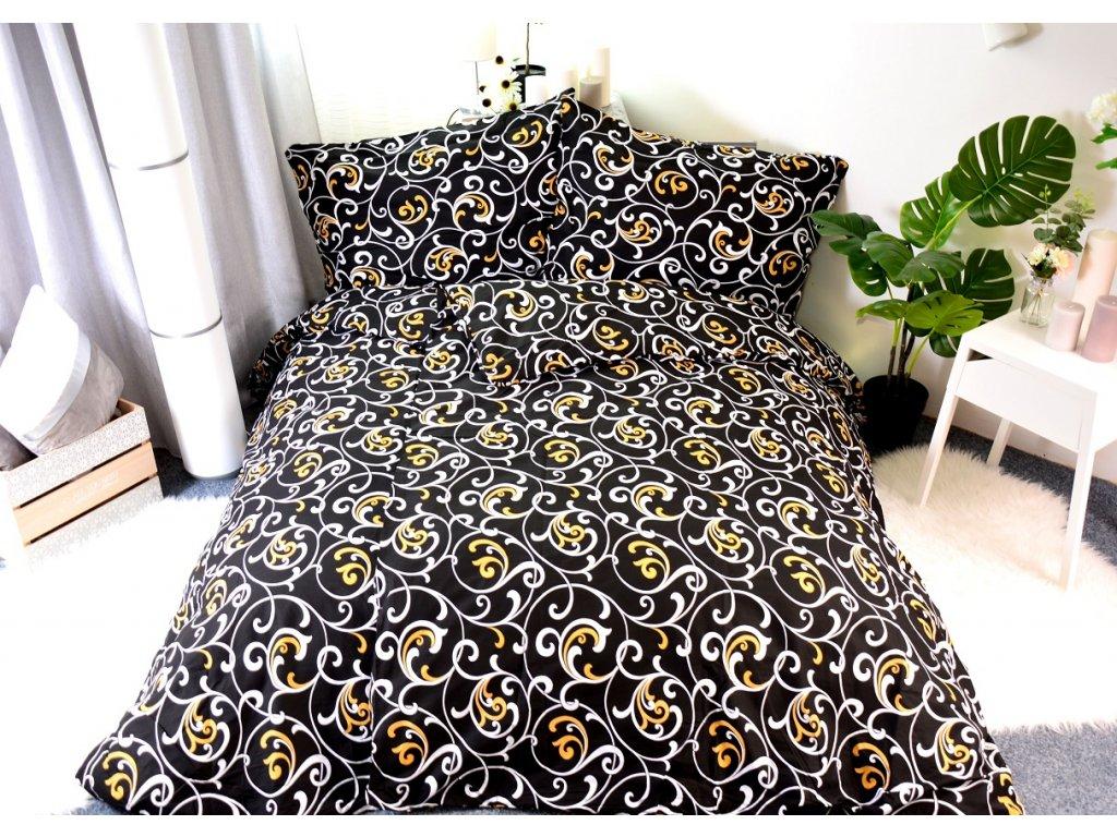 4167 aaryans bavlnene povleceni orient black 140 x 200 70x90
