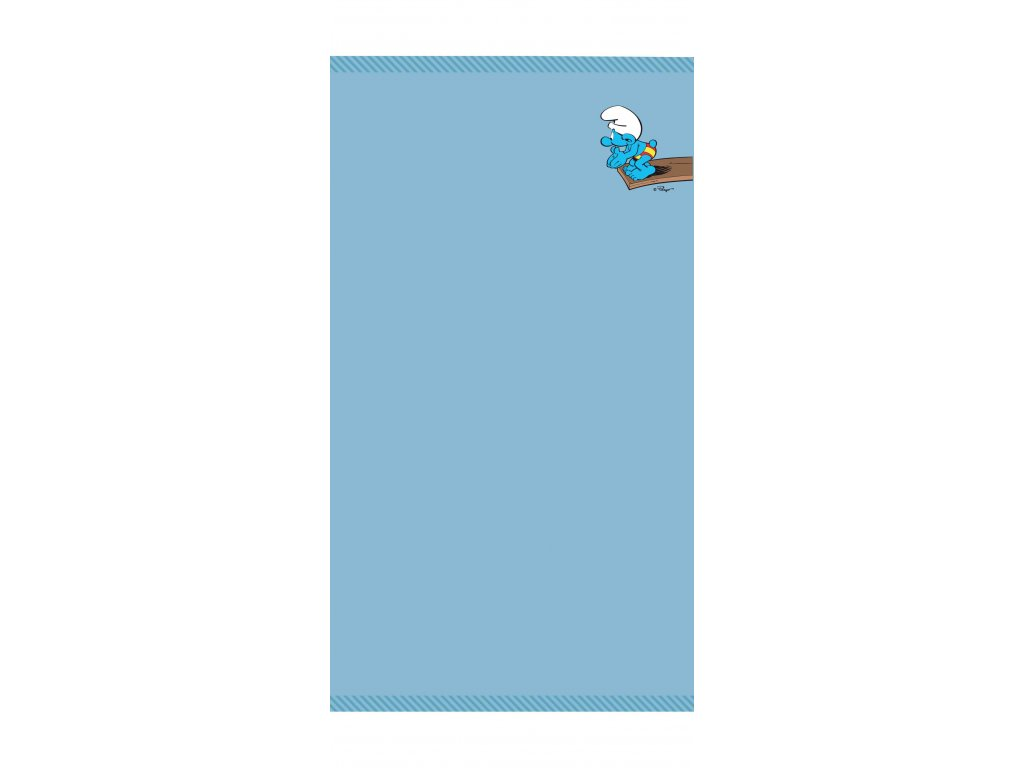 Osuška Šmoulové- modrá 70x140