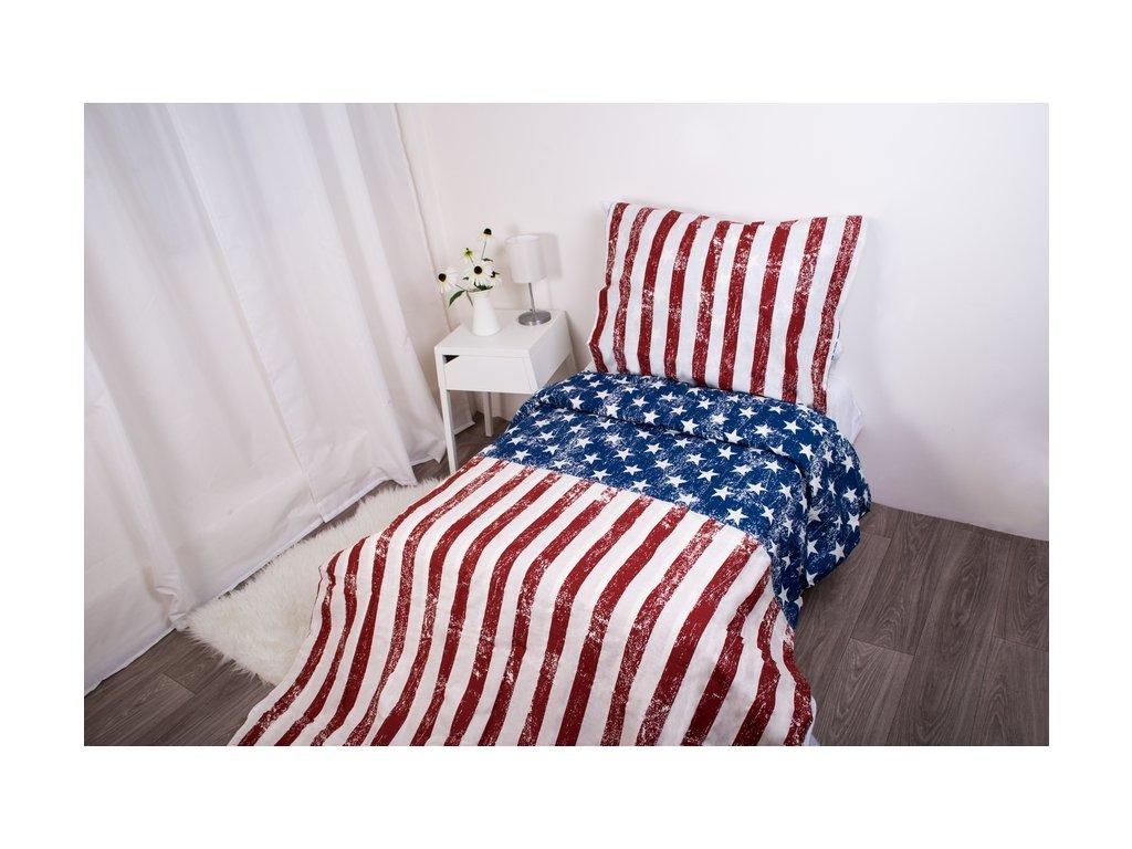 5014 1 herding povleceni s motivem americke vlajky 135x200 80x80