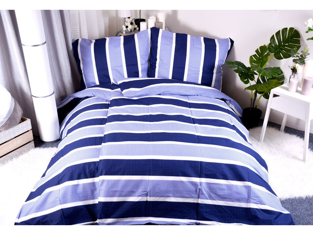 5356 aaryans bavlnene povleceni laura modre 140x200 70x90cm