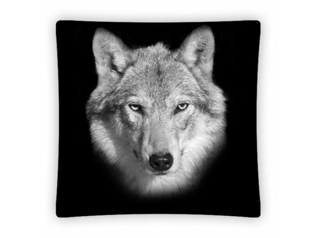 Polštář Vlk PS002 40x40cm