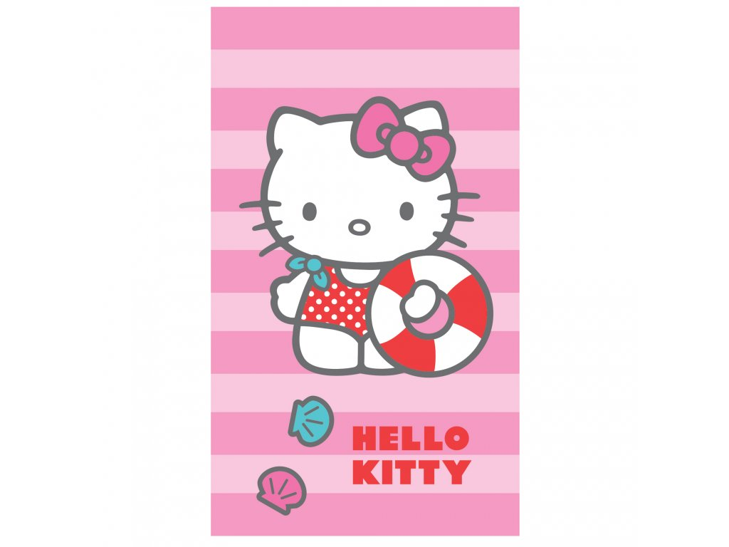 HELLO KITTY DEAUVILLE plage 70x120