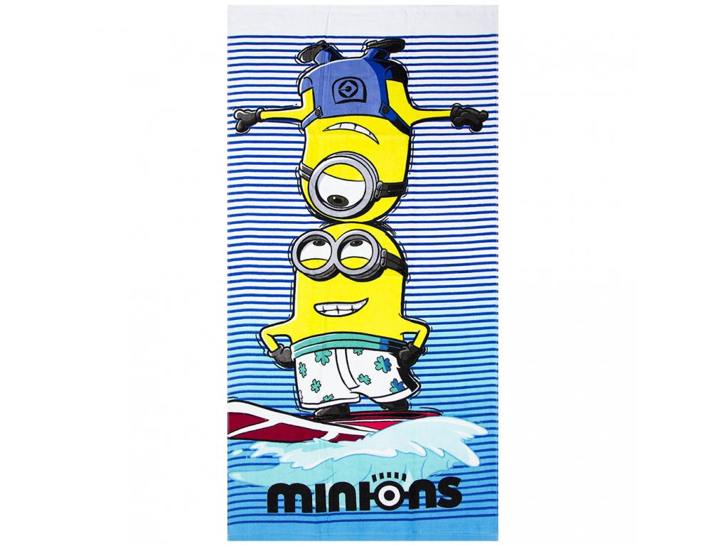 despicable me minions beach towel
