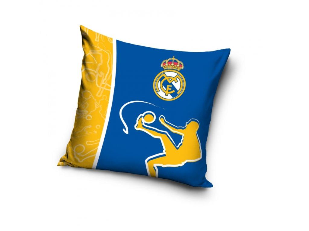 Polštář REAL MADRID modro/žlutý 40x40cm