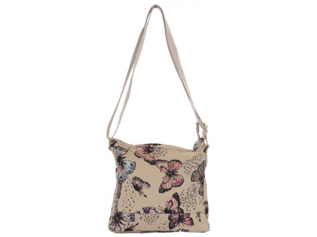 Látková taška s motýly - béžová JBCB 184001