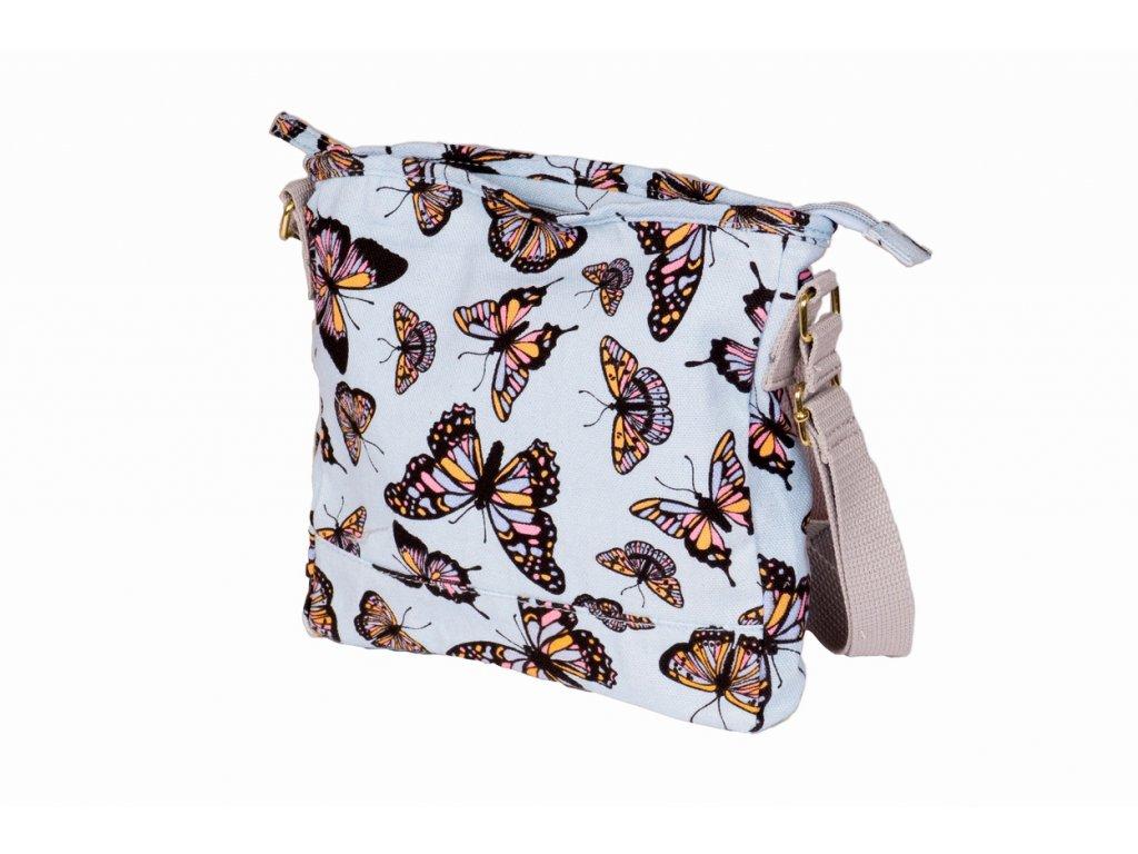 Látková taška s motýly - světle modá JBCB 184