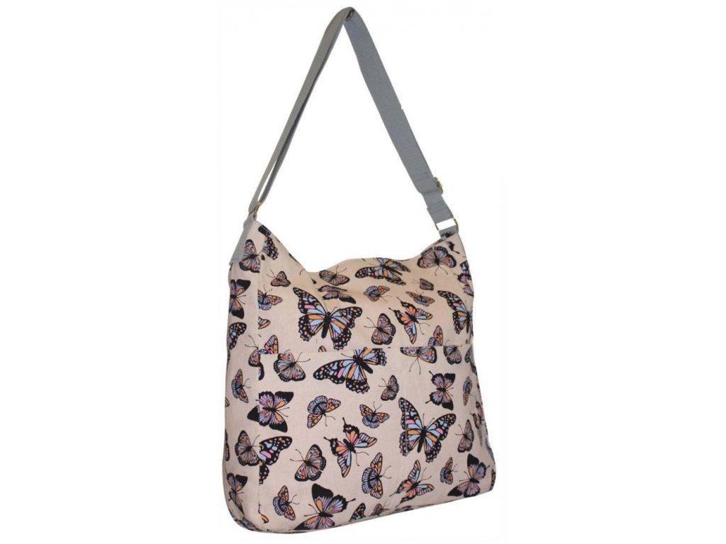 Látková taška s motýly - JBCB 185 MERUŇKA