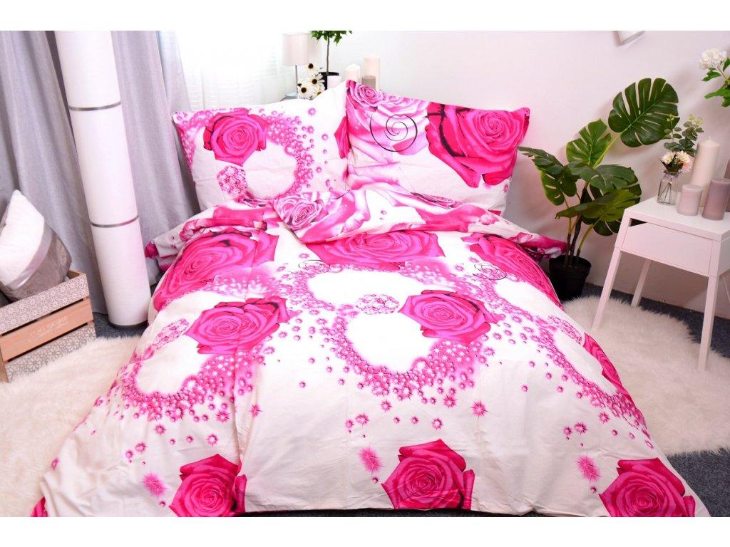 7540 1 aaryans bavlnene povleceni rose 140x200 70x90cm