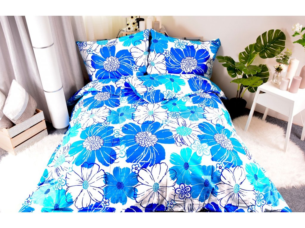 81 aaryans flanelove povleceni monika blue 140x200 90x70cm