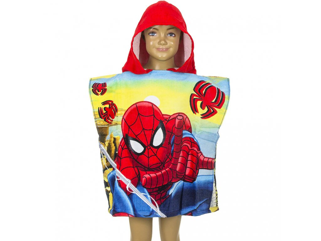 qe1779 wholesale spiderman marvel poncho for boys