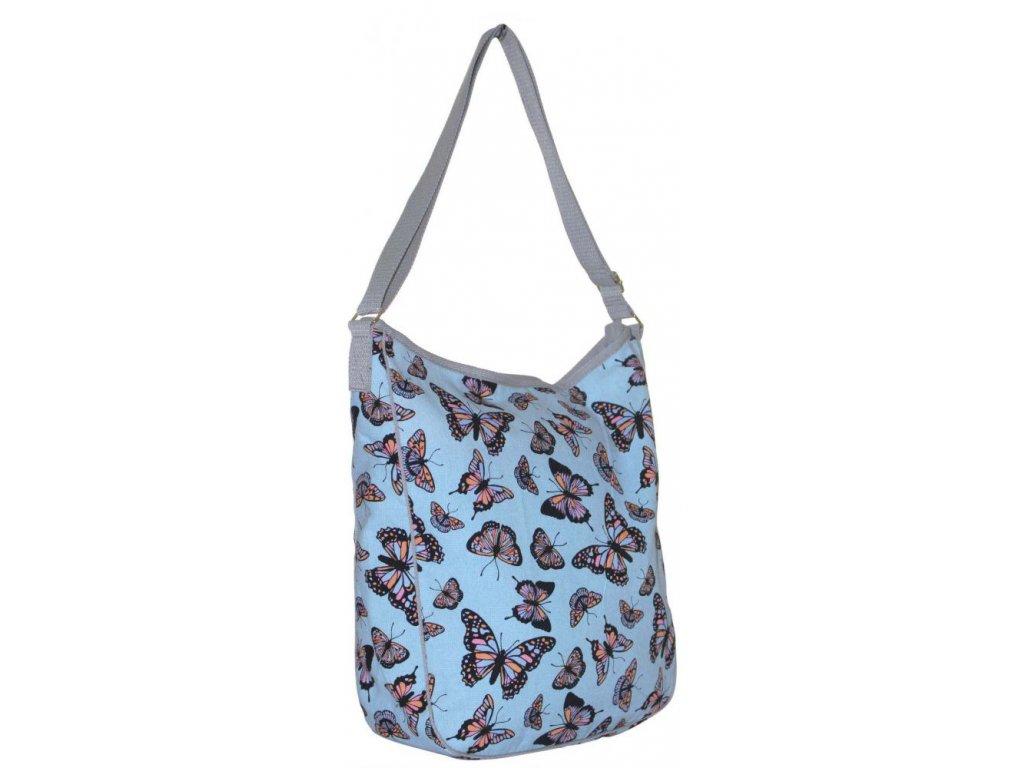 Látková taška s motýly - JBCB 187 BLUE
