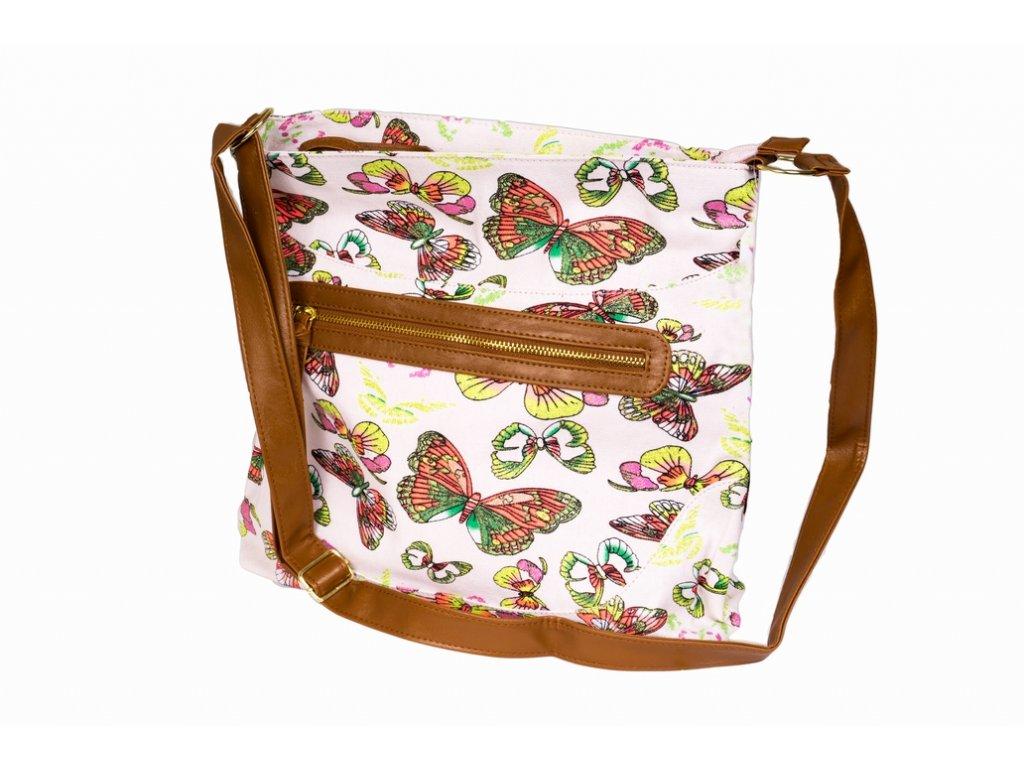 Látková taška s třpytkami A81012 růžová