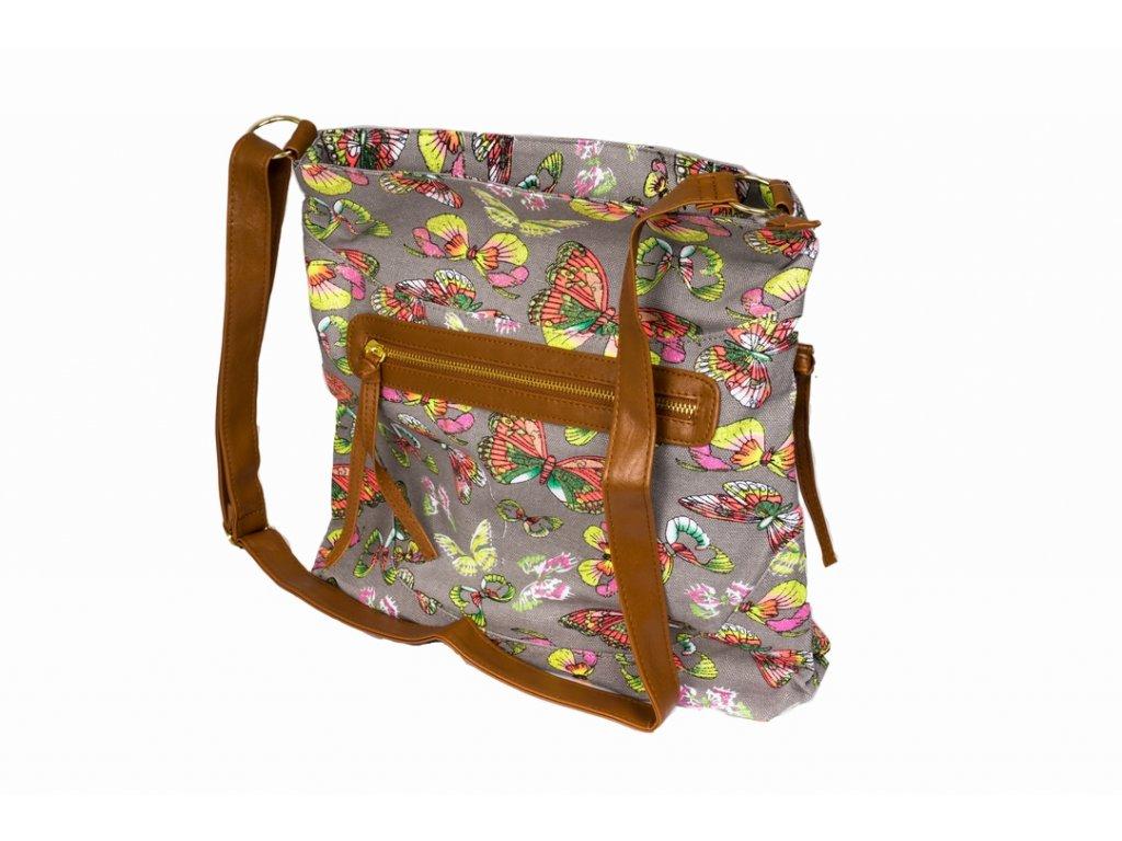 Látková taška s třpytkami A81012 šedá