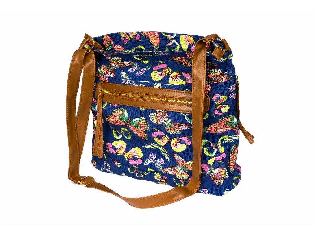 Látková taška s třpytkami A81012 modrá