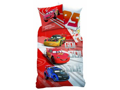 disney cars go go go duvet single 140 x 200 cm red