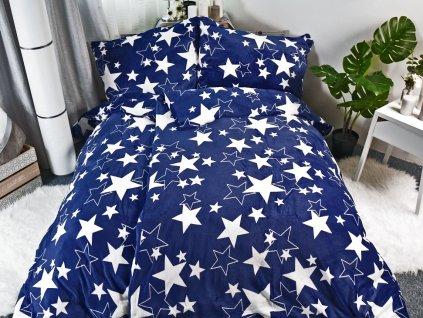 11643 1 aaryans povleceni mikroplys hvezda modra 140x200 70x90