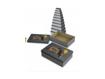 Sada 10 obdélníkových krabic - Bart Simpson