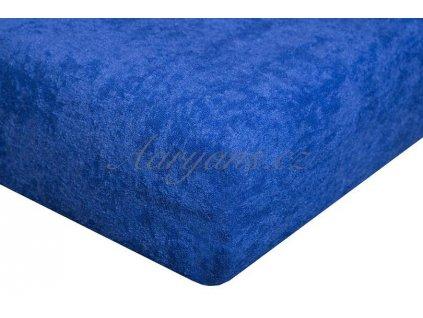 Dětské prostěradlo froté 60x120 cm tmavě modré
