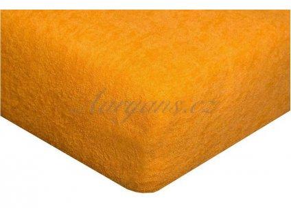 Dětské prostěradlo froté 60x120 cm oranžové