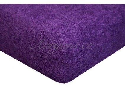Dětské prostěradlo froté 60x120 cm tmavě fialové