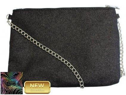 Elegantní kabelka s řetízkovým popruhem JBCP 002 ČERNÁ
