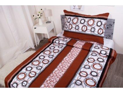 22305 aaryans bavlnene prodlouzene povleceni brown circles