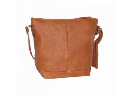 Dámská kabelka JD 016 SVĚTLE HNĚDÁ