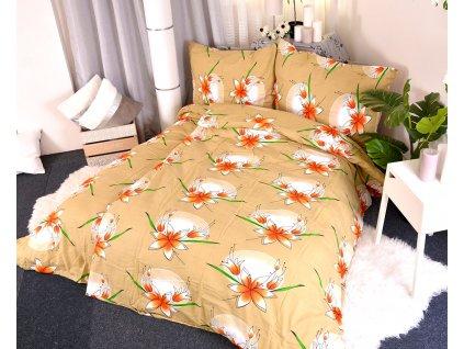 27320 flanelove povleceni lily horcicove 140x200 90x70cm