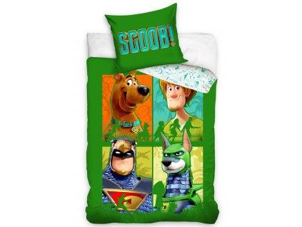 Dětské povlečení Scooby Doo Zelená Čtyřka